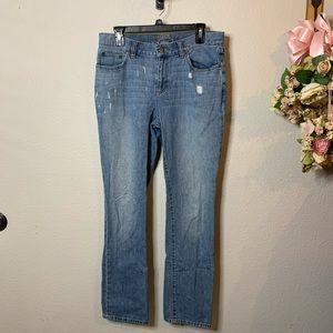 Women's Ralph Lauren Lauren Distressed Jeans